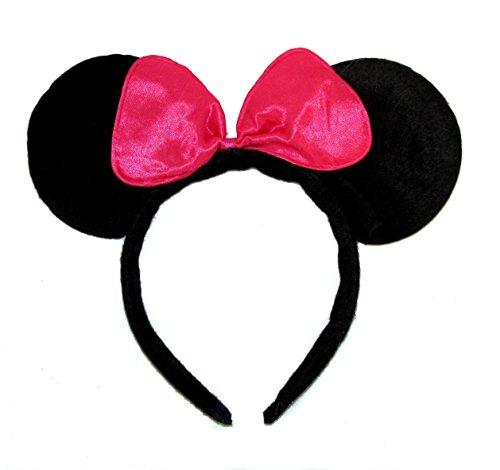 Femme Filles Coque souple déguisement Oreilles de souris Bandeau/Bandeau – Noir