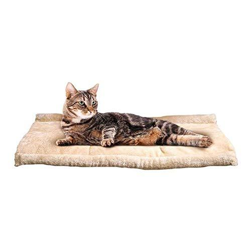 Saco de dormir para gatos, mascotas, perros, gatos, cama calmante, cómoda y suave, para interior y exterior, color marrón