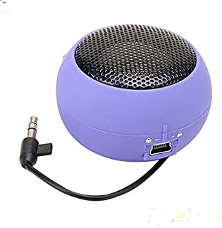 ZYZRYP Mini Portable Super Bass Colum Speakers Spinner Musical Stereo Audio Music MP3 Player for Mobile Phone Tablet Hamburger Speaker (Color : Purple)