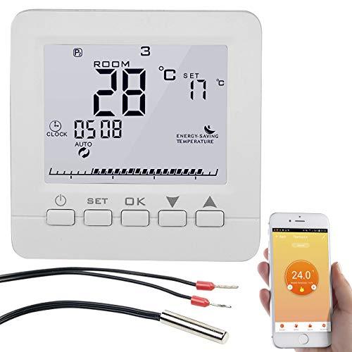 revolt Raumthermostat: WLAN-Fußbodenheizung-Thermostat, für Siri, Alexa & Google Assistant (Raumthermostat Alexa)