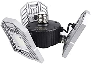 LED Garage Lights, 60W 6000LM E27 LED Garage Light Bulbs for Full Area, Deformable Garage Lighting Fixtures Ceiling Led fo...