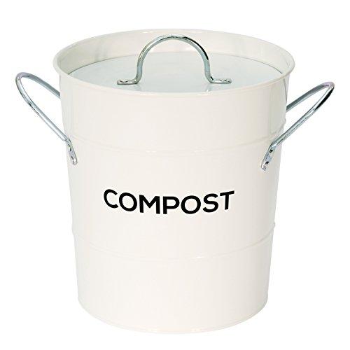 KüChen-Komposteimer der Farbe anthrazit) &120 x 5 l BIO-Mülltüten &Kompostier-Ratgeber, für das Recycling von Essensresten