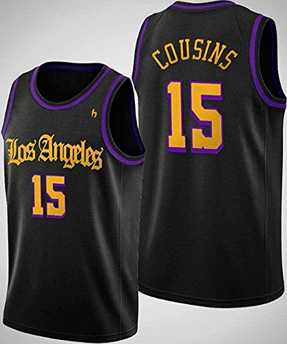 ZMIN Jersey de Baloncesto para Hombre NBA Lakers 15# primos cómodo liviano Transpirable Bordado Malla Swingman Retro Camiseta Sudadera,XL 180~185cm