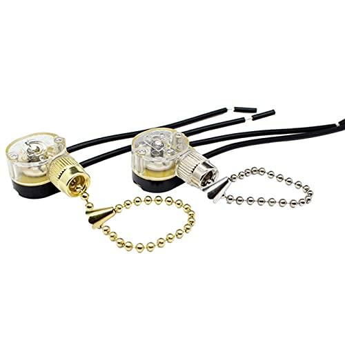 2 Paquete Cadena Interruptor Ventilador de Techo Lámpara Repuesto Hogar Cadena Interruptor - Color Enviado Al Azar