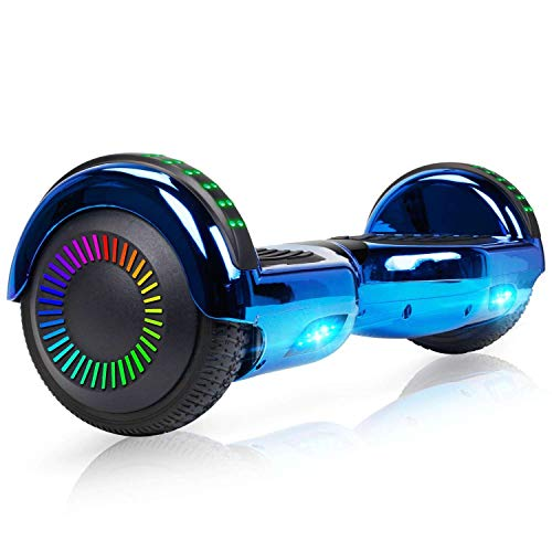 """Felimoda Hoverboard with Bluetooth, 6.5"""" LED Light Wheel..."""