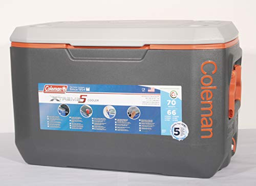 "Kühlbox Coleman \""Xtreme 5 Cooler 70 Qt\"" grau/orange (60Liter)"