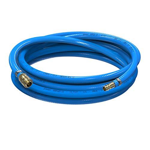 AUPROTEC Sicherheits Druckluftschlauch Set Prevost PVC-Schlauch Surflex Pro + Messing Schnellkupplung Auswahl: (1m Meter, Innen Ø 13mm)