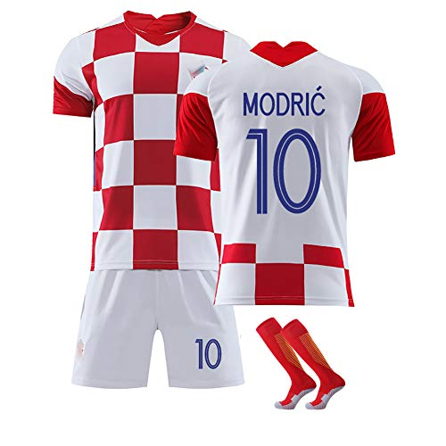 New Modric and Rakitic Jersey Custom Football Uniform Croatia, Adults Football Jersey Kits Soccer Jersey T-Shirt and Shorts-10#white-28