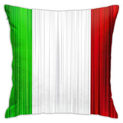 Emonye - Fundas de cojín con diseño de bandera italiana de 18 x 18 cm, 45 x 45 cm, de algodón y lino