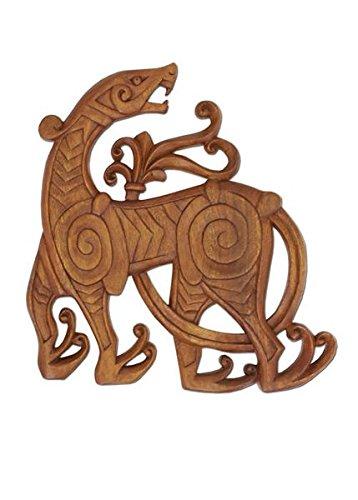Vikingo dragón - señal de madera tallado mano - Thor - Odin - Edda