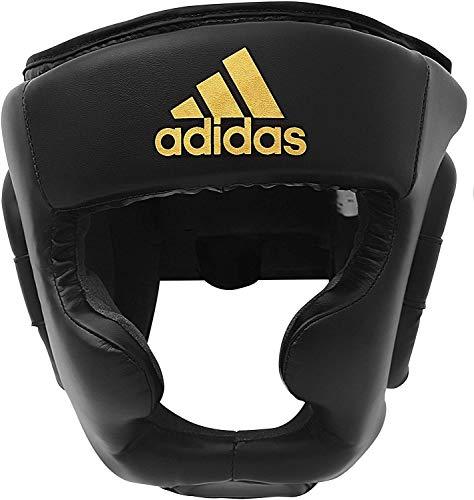 adidas Erwachsene Speed Super Pro Training HG Kopfschutz, schwarz/Gold, XL