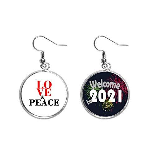 Brinco com pingente de orelha do mundo sem guerra 2021 Blessing