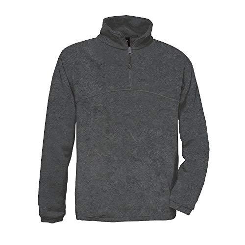 B&C - 1/4 Zip Fleece Pullover 'Highlander' XXL,Charcoal