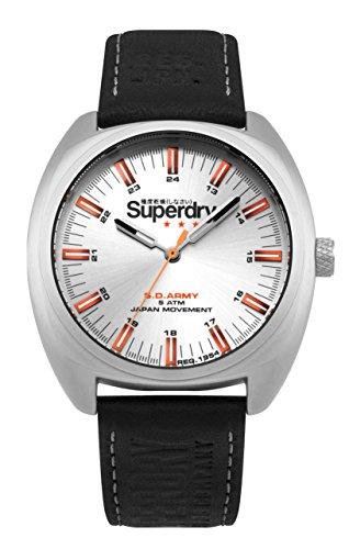 Superdry Reloj Analógico para Hombre de Cuarzo con Correa en Cuero SYG228B