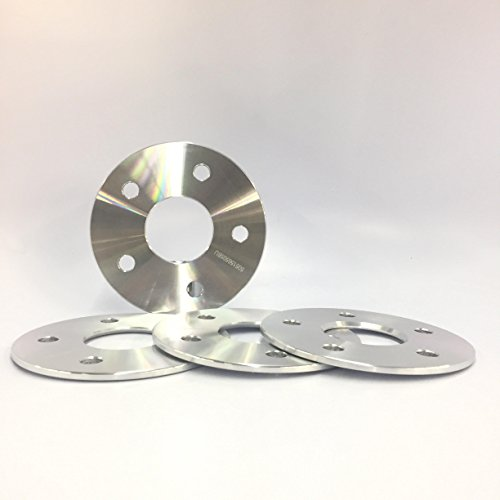 Customadeonly 4 Pieces 3/16' 5mm Hub Centric Wheel Spacers Adapters Bolt Pattern...