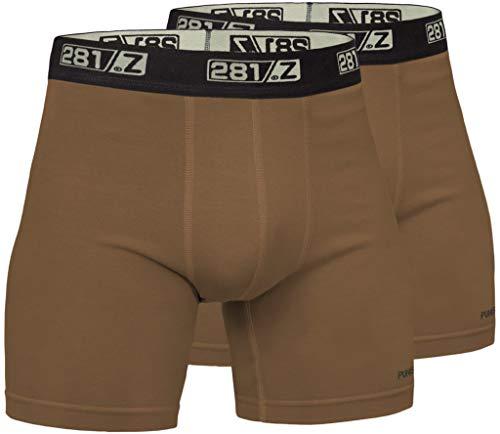 281Z Militär-Unterwäsche, Baumwolle, 15,2 cm, Boxershorts – taktisches Wandern im Freien – Punisher Combat Line, Herren Jungen, Coyote Brown (2 Pack), Medium