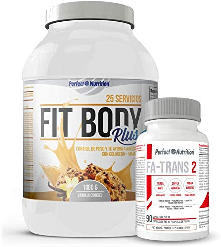 Weight Loss Pack: Meal Replacement Shakes with Protein to Lose Weight. Fat Burner with Collagen + Thermogenic Fat Burner/for Men & Women. Weight Lose (Vanilla & Cookies, 1 Kg)