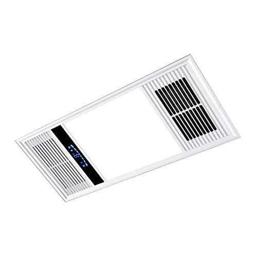 Multifunktionale Badezimmer 4-in-1-Heizung Decke Ventilator 16W LED-Beleuchtung-Licht und Lüfter mit Aluminium Flexible Fan Kanalisierung und Wireless-Touch-Schalter, der fest verdrahteten