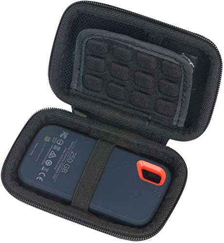 Khanka Eva Borsa da Viaggio Custodia Caso Scatola per SanDisk Extreme SSD Portatile 250 GB / 2 TB / 1 TB / 500 GB (Custodia per SanDisk Extreme-con St