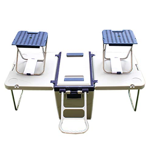 KOUPA Rolling Cooler Picnic Table Multi Function para Picnic Fishing Almacenamiento...