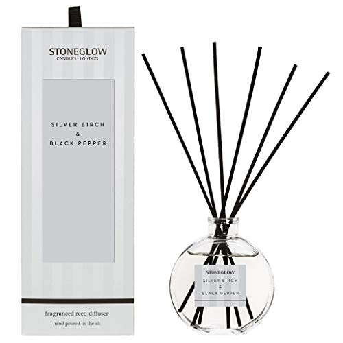 Stoneglow Candles London Modern Classics Silver Birch & Black Pepper - 120ml Reed Diffuser 6815