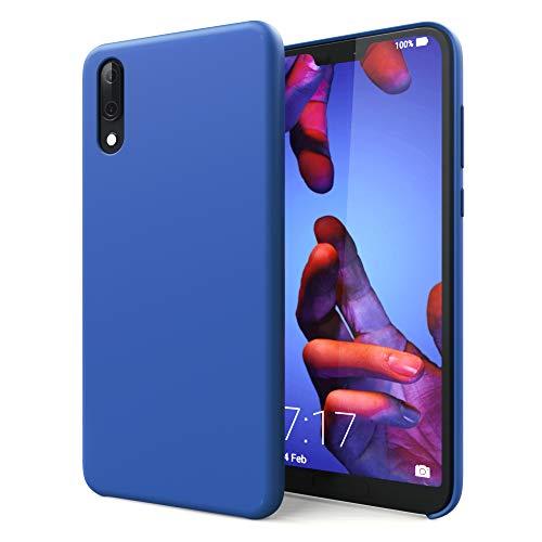 CELLONIC® Cover Compatible con Huawei P20 Lite Silicone Backcover Pelle Custodia Protezione Cover Silicone Nera Borsa Guscio Flip Case Blu Scuro