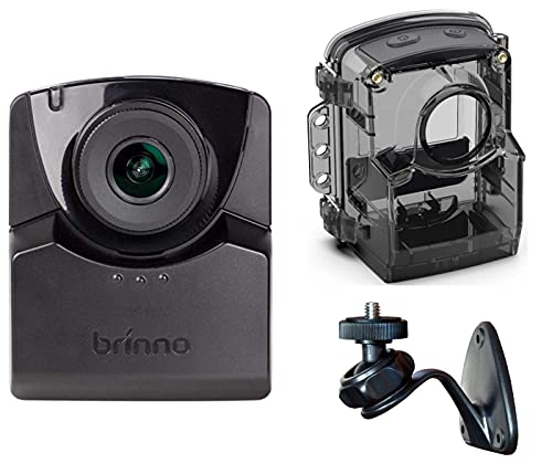 Brinno TLC2020 HDR & FHD Time Lapse Camera, Step Video, Stop Motion, Cronofotografia con Custodia Resistente agli Agenti Atmosferici e Supporto da Parete, Nero