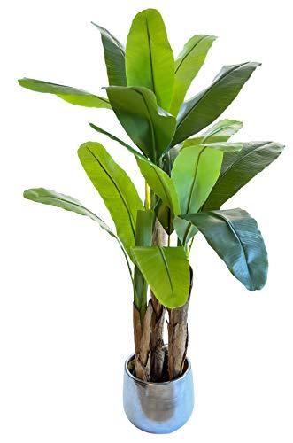Bananera Artificial, Elaborados con los Mejores Materiales, Ideal para Decoración de hogar, Planta Artificial (150 cm)