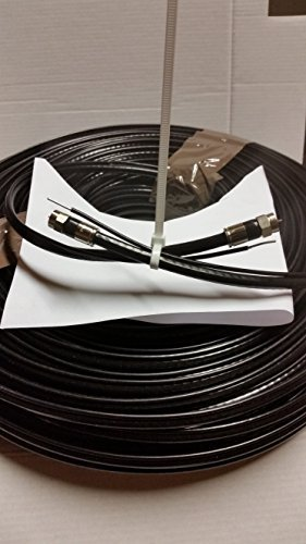 RG 6 Perfectflex solid center copper with still Messenger ground aerial Black 200 FT ,with 2 PPC FITTING XL PLUS for directv dish network & all tv rabbit antenna