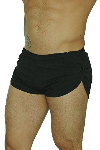 UZZI Men's Basic Running Shorts Swimwear Trunks 1830 Black L