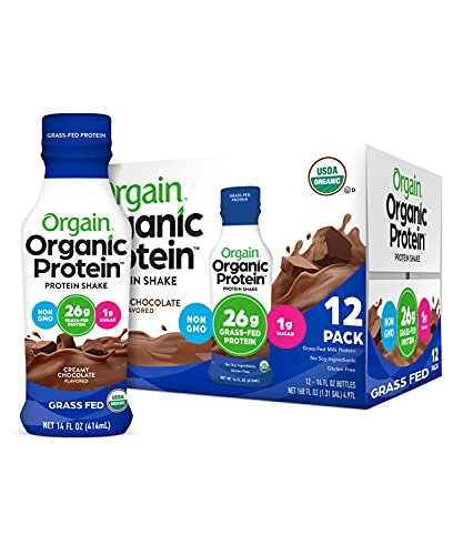 Orgain Organic 26g Grass Fed Whey Protein Shake, Creamy Chocolate -...