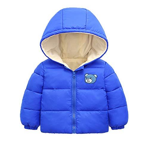 Bebé Chaqueta Outfits Invierno Niños Niñas Abrigo con Capucha Manga Larga Calentar Ropa Regalos 1-2 años,Azul