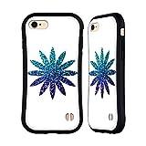 Head Case Designs Ufficiale PLdesign Blu Ombrato Floreale Scintillante Cover Ibrida Compatibile con Apple iPhone 7 / iPhone 8 / iPhone SE 2020