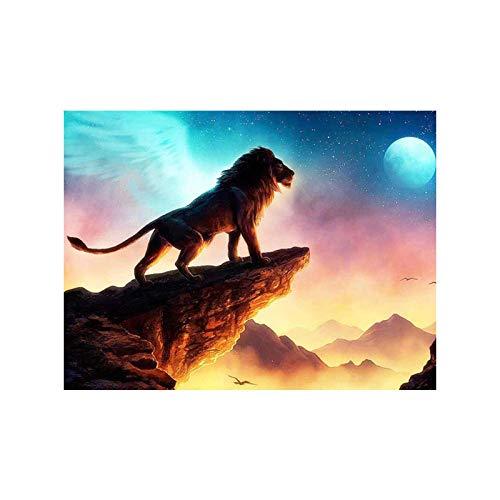 QMGLBG Puzzle in Legno da 500 Pezzi Mountain Cliff Old Lion King Puzzle Classico in Legno per Adulti per Famiglie Art Deco per Adulti