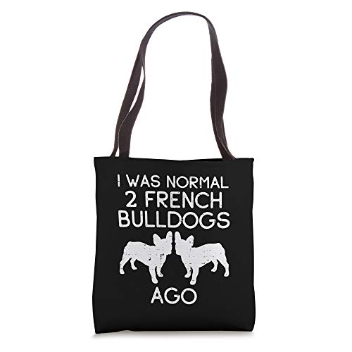 Normal 2 French Bulldogs Ago Frenchie Dog Lover Owner Gift Tote Bag