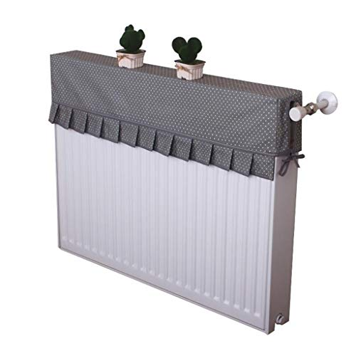Zbm-zbm Simple Lace Radiator Cover, Huishoudelijke Cover Stofafstotend, Oude Radiator Decoratie, Anti-rook Zwart Kleine Dot Cover Doek