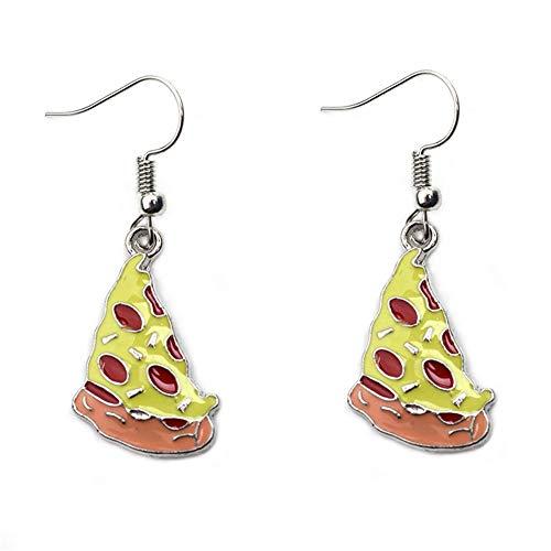 Mini Food Hook Earrings Creative Cute Pizza Hot Dog Cola Bottle Dangle Earrings for Girls(pizza)