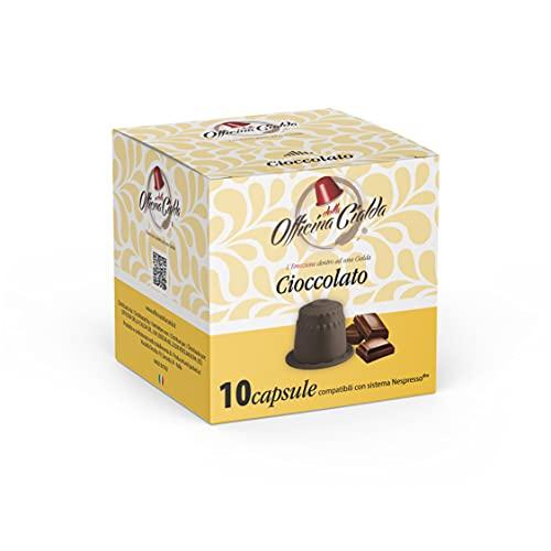 ODC Capsule compatibili con macchina da Caffè sistema Nespresso kit formato da 80 cialde Cioccolato con chiusura salva freschezza MADE IN ITALY