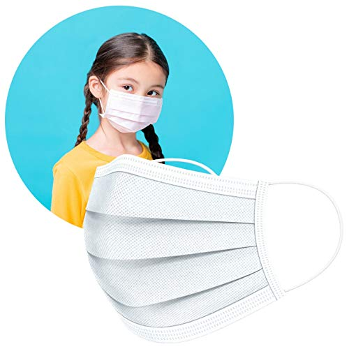 ArtNaturals Disposable Kids Face Mask (50 Pcs) - Hypo Allergenic, Anti-Dust & Water, Protection for Kid Filter Masks - w/ 3 Layer Safety Shield - Lightweight, Comfortable & Breathable