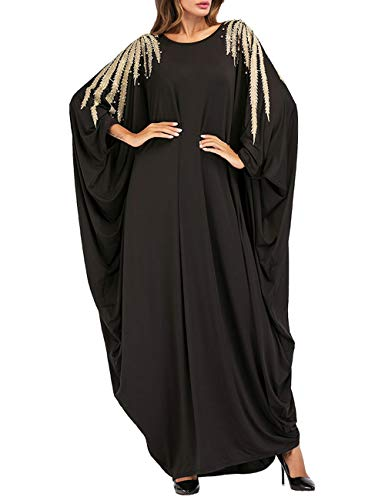 besbomig Arabisch Roben Muslime Lange Maxi Kleid Beiläufig Lose Islamisch Kleidung - Kaftan...
