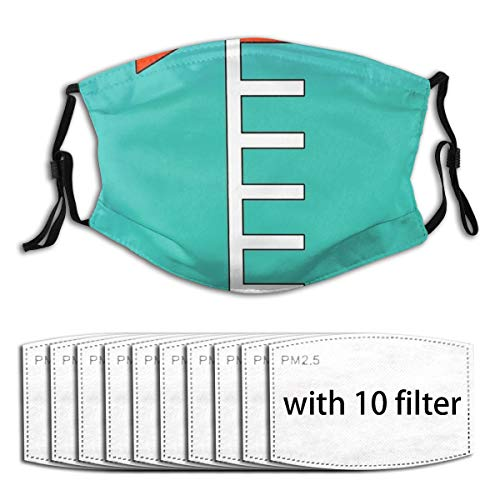 Osvbs Turquoise Ink Tank With 10 Filter Replaceable Filter 5-Layers Activated Carbon For Face Cover Dust Mask