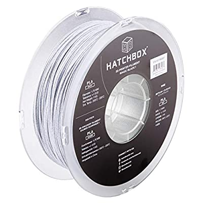 HATCHBOX Magic Stone PLA 3D Printer Filament, Dimensional Accuracy +/- 0.03 mm, 1 kg Spool, 1.75 mm, Black