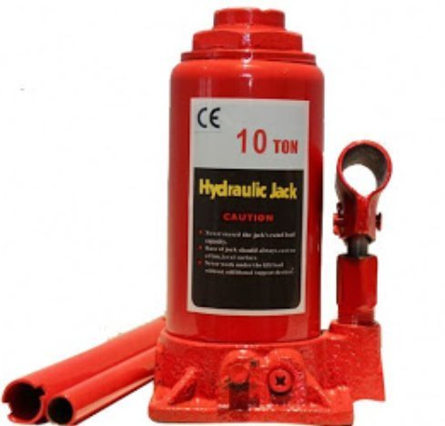Nelson Rigg Products 10 Ton Hydraulic Jack for Car Lifting Device to Lift Heavy Loads (Red)