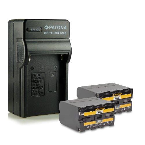 Bundle - 4en1 Cargador + 2x Batería NP-F970 NPF970 para Sony Camcorder...