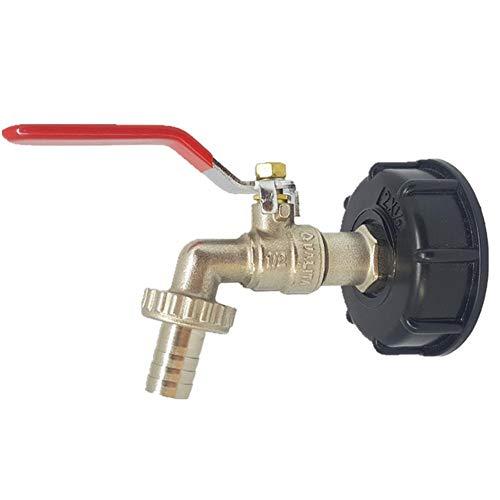 Rich-home 1/2 Zoll IBC Adapt Gartenhahn Ventil IBC Hahn Ersatzanschluss Passventil, Messingmaterial, die Bewässerungsspezialisten