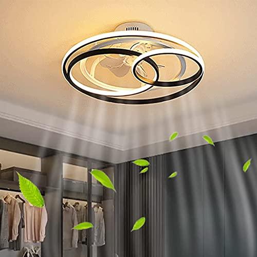 Luz De Techo Ventiladores De Techo Con Iluminación LED Control Remoto Moderno 3 Anillos Lámpara De Sala De Estar Regulable Silencioso Dormitorio Ultradelgado Habitación Para Niños Comedor