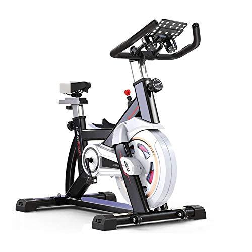 Cubierta de bicicleta de ejercicios, bicicleta de spinning ajustable con soporte de IPAD, Silent correa de transmisión de una manera más cómoda, Teniendo fuerte, conveniente for el hogar Cardio entren