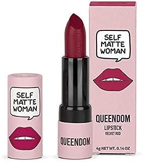 Queendom Self Matte Woman Lipstick - Velvet Red Shade - Matte Finish - Long Lasting