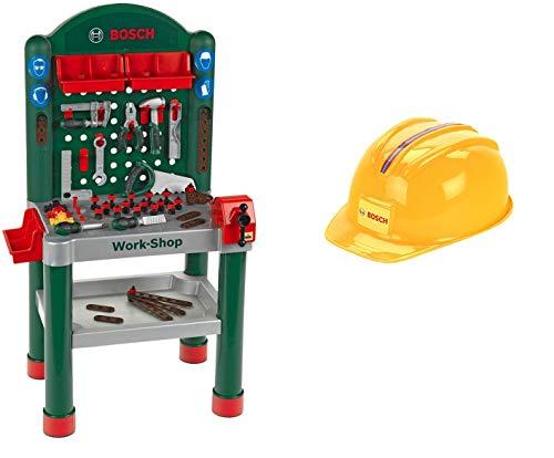 Theo Klein 8320 - Bosch Workshop, Spielzeug & Klein 8127 - Handwerkerhelm, 28cm