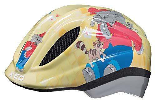 KED Meggy Originals M Benjamin Blümchen - Casco para bicicleta (52-58 cm, incluye banda de seguridad RennMaxe, para patinaje, MTB BMX y niños)